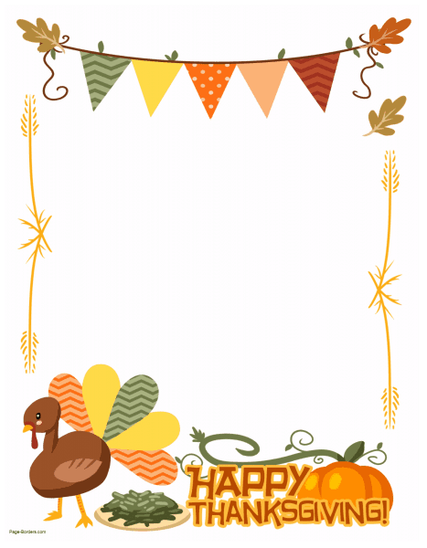 Thanksgiving clipart boarder banner transparent download FREE Thanksgiving Border Printables | Many designs available banner transparent download