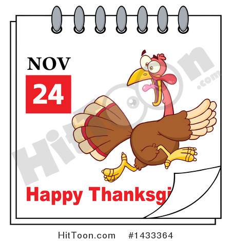 Thanksgiving clipart calendar jpeg image black and white download Thanksgiving Clipart #1433364: November 24 Happy Thanksgiving ... image black and white download