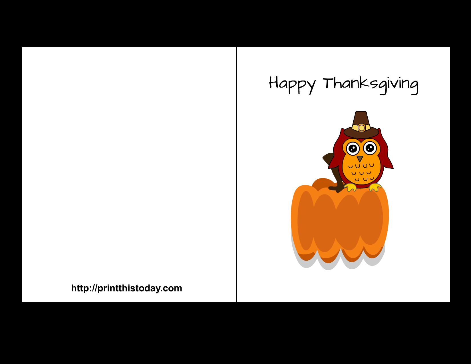 Thanksgiving clipart card for kids printable jpg library stock Free Printable Thanksgiving Cards jpg library stock