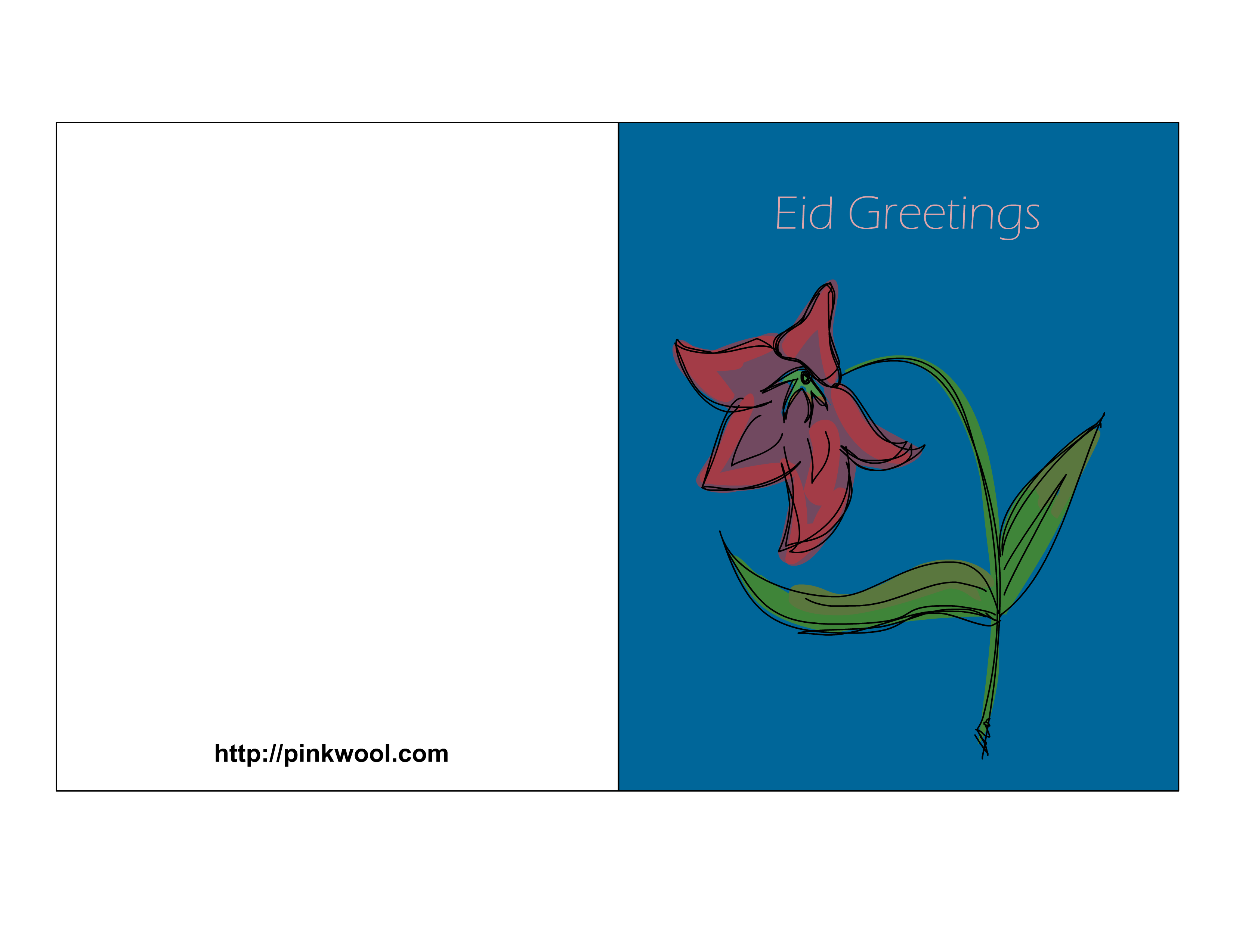 Thanksgiving clipart card for kids printable banner black and white stock Free Printable Eid Greeting Cards banner black and white stock
