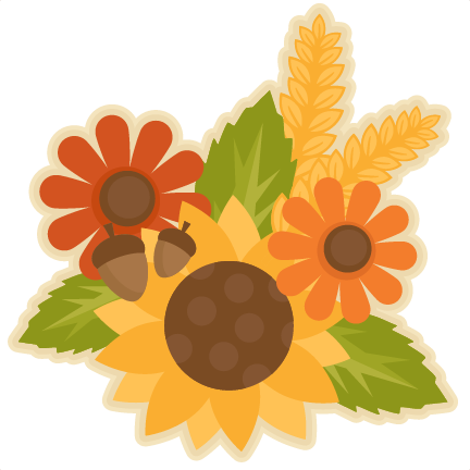 Thanksgiving clipart flowers clip black and white stock Free Fall Flowers Cliparts, Download Free Clip Art, Free ... clip black and white stock