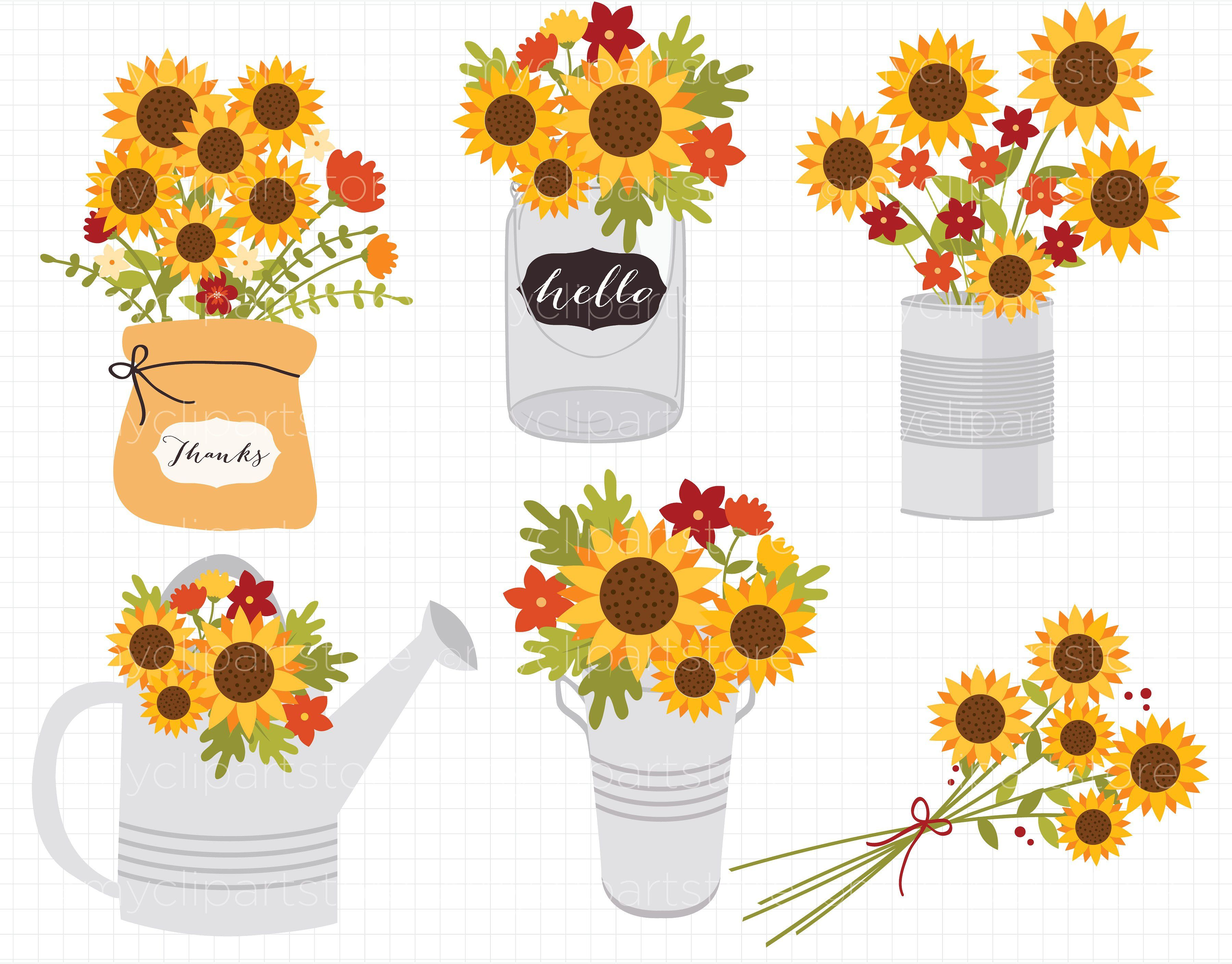 Thanksgiving clipart flowers download Sunflowers, Fall Flowers Clipart #AUTUMN#THANKSGIVING ... download