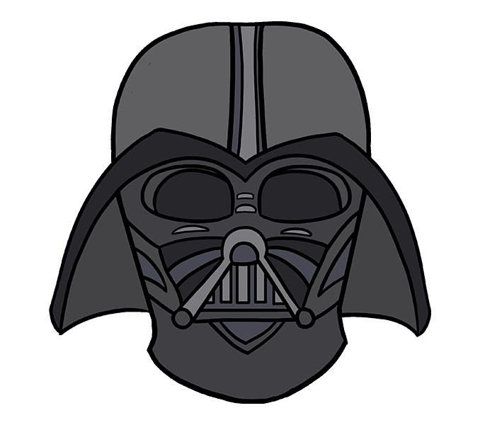 Thanksgiving clipart free darth vader black and white How to Draw Darth Vader in a Few Easy Steps   Easy Drawing Guides black and white