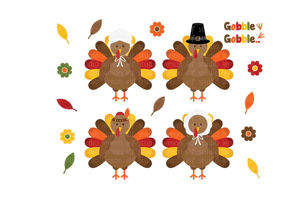 Thanksgiving clipart leaves banner transparent library Thanksgiving Clipart (LES.CL60) banner transparent library