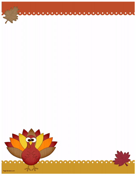 Thanksgiving clipart page borders