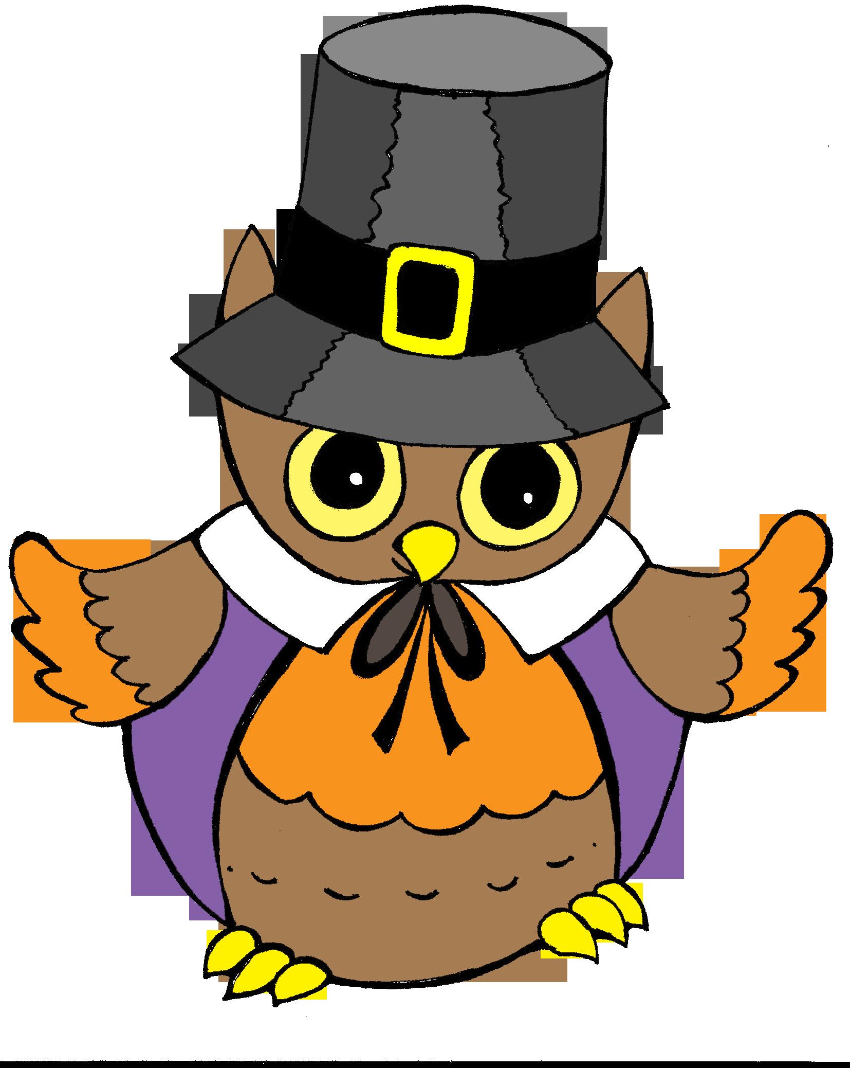 Thanksgiving clipart pilgrim owls banner royalty free pilgrim owl thanksgiving clipart | Clip Art for Teachers | Pinterest ... banner royalty free