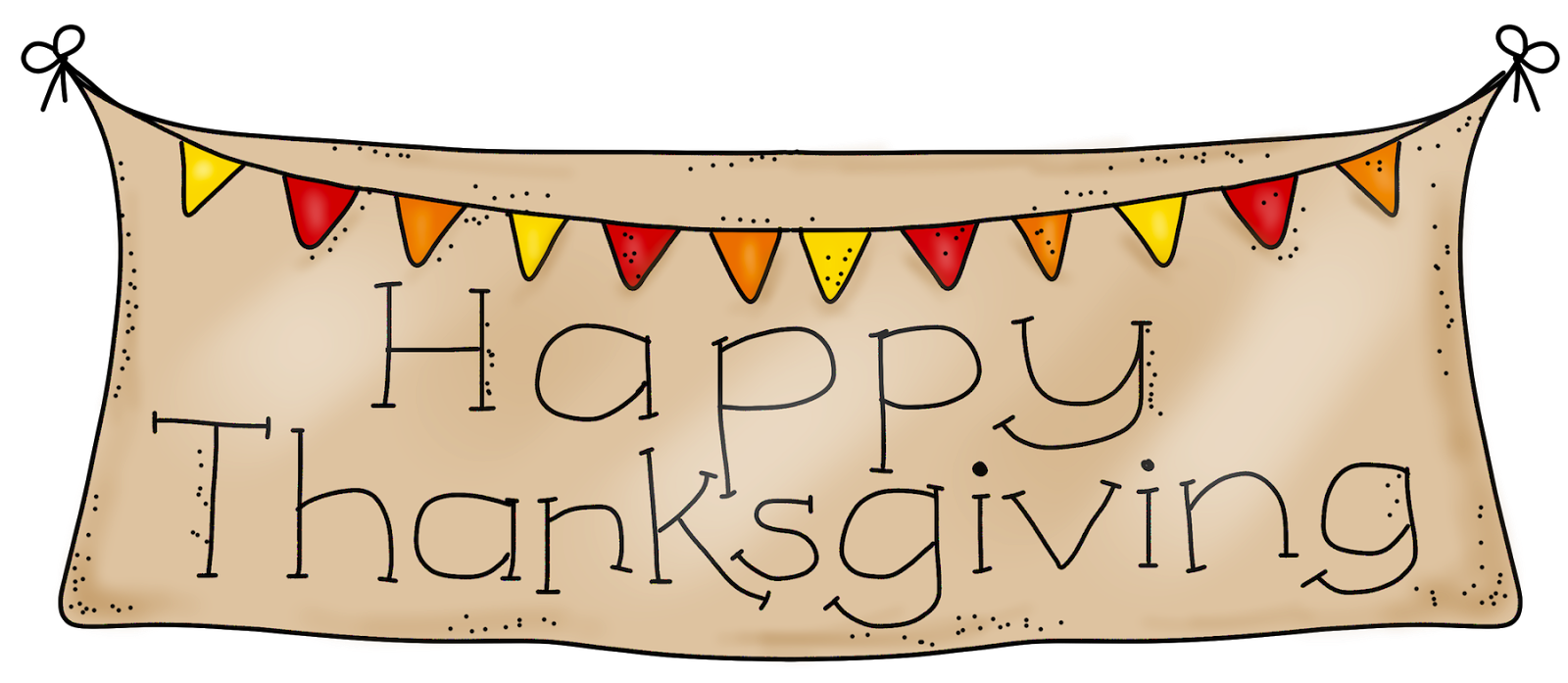 Thanksgiving scroll banner clipart