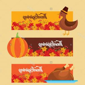 Thanksgiving clipart traditional graphic transparent download Thanksgiving Banners With Cornucopia And Pilgrim Hat Vector ... graphic transparent download