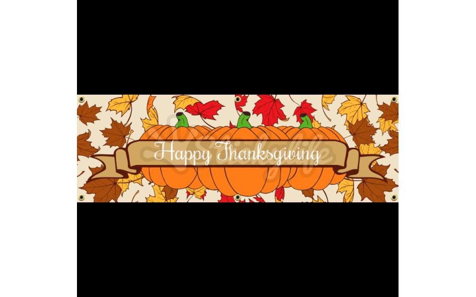 Thanksgiving clipart vinyl ideas clip art transparent Vinyl Banner - Thanksgiving Customizable Design clip art transparent