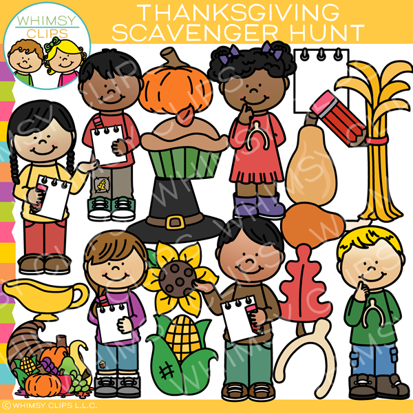 Thanksgiving community service clipart graphic free download Thanksgiving Scavenger Hunt Clip Art graphic free download