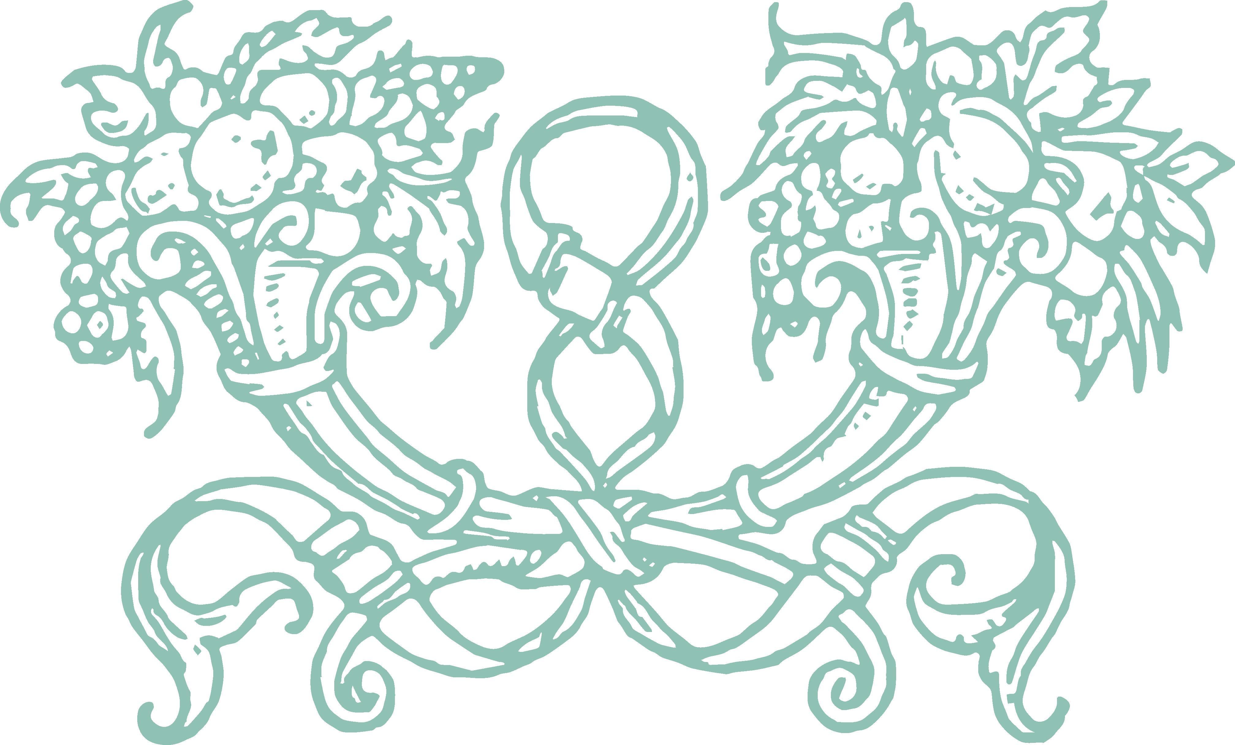 Thanksgiving cornucopia clipart pattern graphic free download Free Stock Vector & Clip Art - Decorative Cornucopia Ornament | Oh ... graphic free download