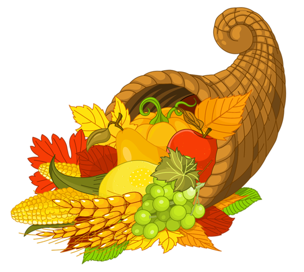 Thanksgiving dinner clipart with cornicopia jpg free stock Thanksgiving Cornucopia Clipart at GetDrawings.com | Free for ... jpg free stock