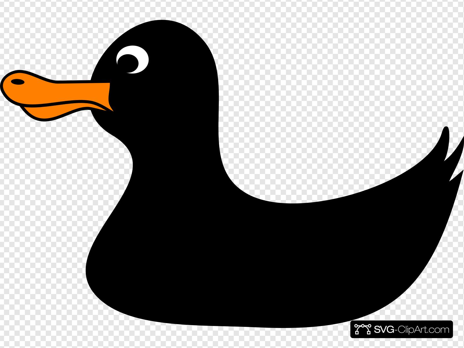 Thanksgiving duck clipart picture black and white stock Black Duck Clip art, Icon and SVG - SVG Clipart picture black and white stock