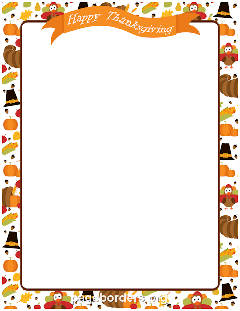 Thanksgiving page borders clipart banner transparent download Pin by Muse Printables on Page Borders and Border Clip Art ... banner transparent download