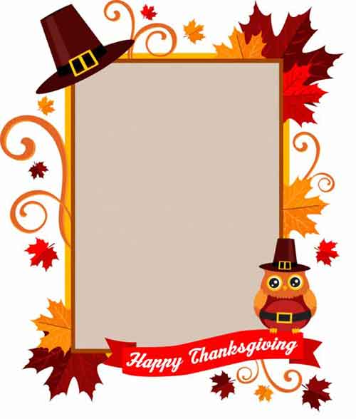 Thanksgiving flyer clipart jpg transparent Thanksgiving Printables: 31 Free Sets of Fall-Themed Designs jpg transparent