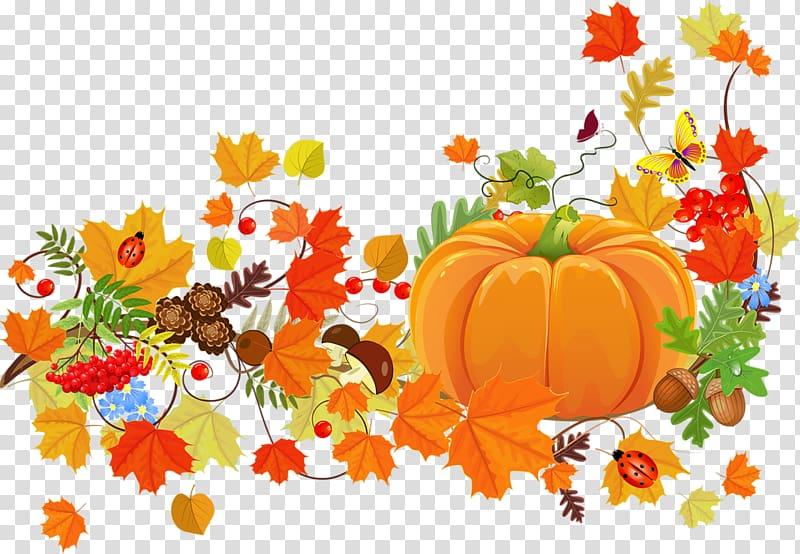 Thanksgiving flyer clipart vector Pumpkin and flowers illustration, Thanksgiving dinner ... vector