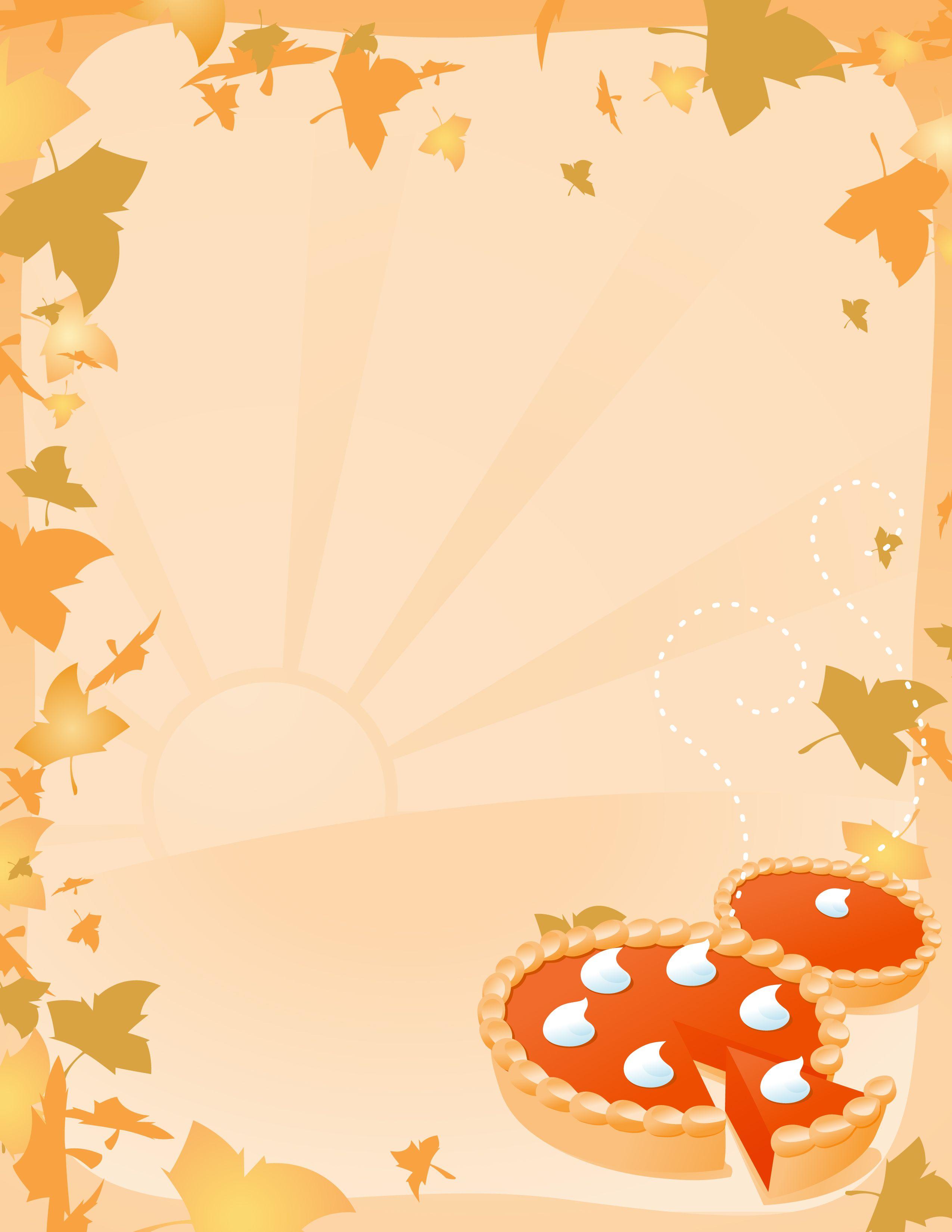 Thanksgiving flyer clipart