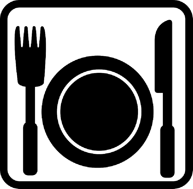 Thanksgiving food clipart black and white clipart freeuse download Plate Of Food Clipart Black And White | Free download best Plate Of ... clipart freeuse download