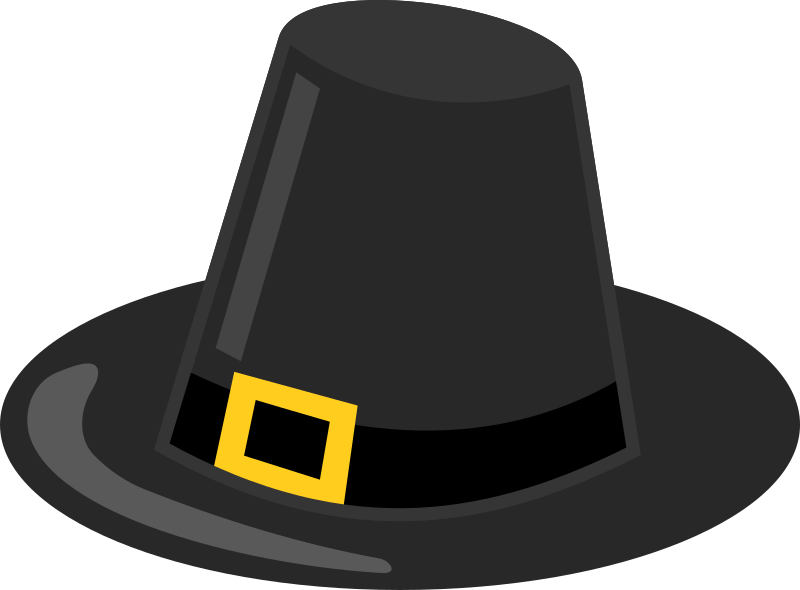 Thanksgiving hat clipart banner library stock Clipart - Pilgrim Hat with Black Band banner library stock