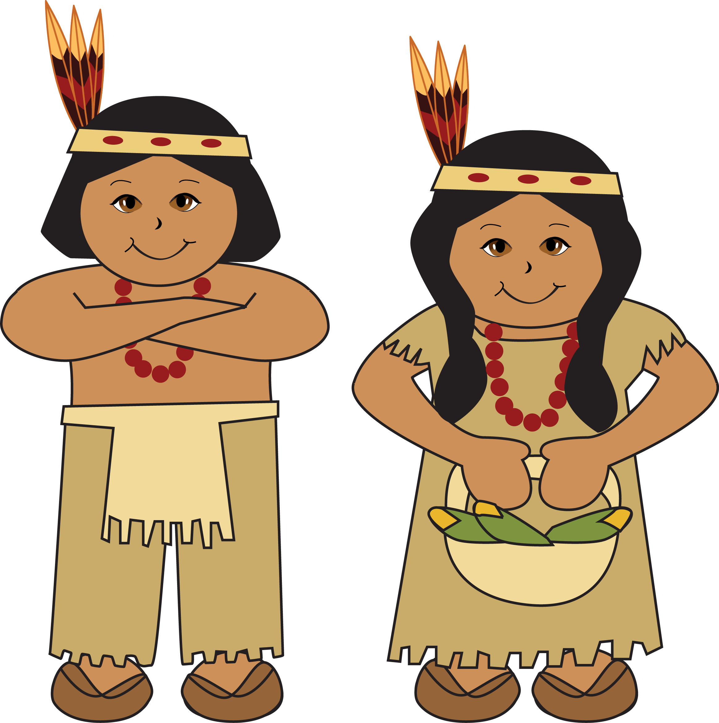 Thanksgiving indian no background clipart vector transparent download Thanksgiving Jokes | Clowns On Rounds vector transparent download