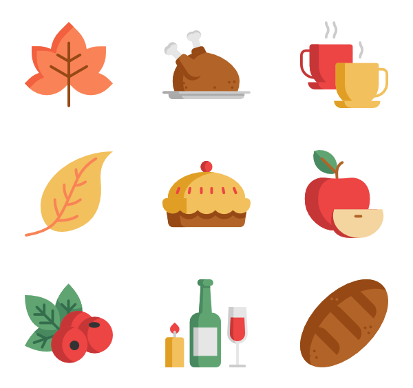 Thanksgiving icons clipart picture free stock 7 dinner icon packs - Vector icon packs - SVG, PSD, PNG, EPS & Icon ... picture free stock