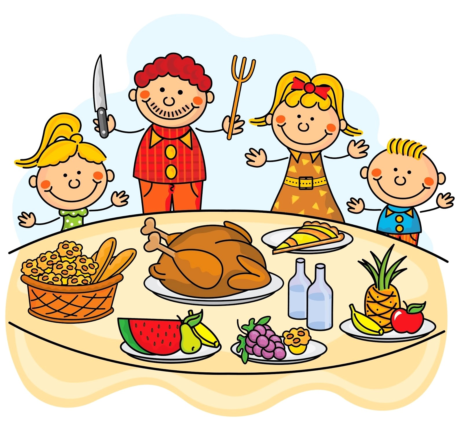 Thanksgiving meal offered clipart picture black and white library Thanksgiving meal clipart 1 » Clipart Station picture black and white library