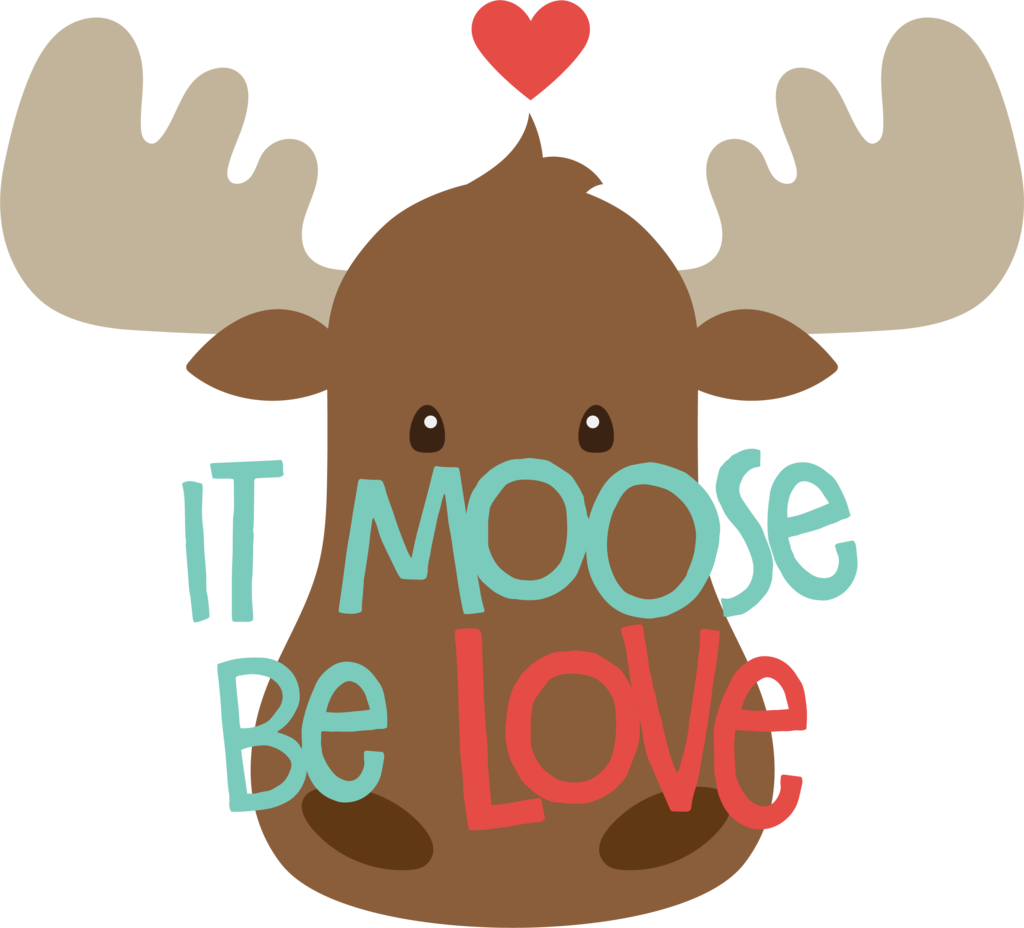 Thanksgiving moose clipart picture freeuse download Moose be Love Cookie Cutter – sheyb picture freeuse download