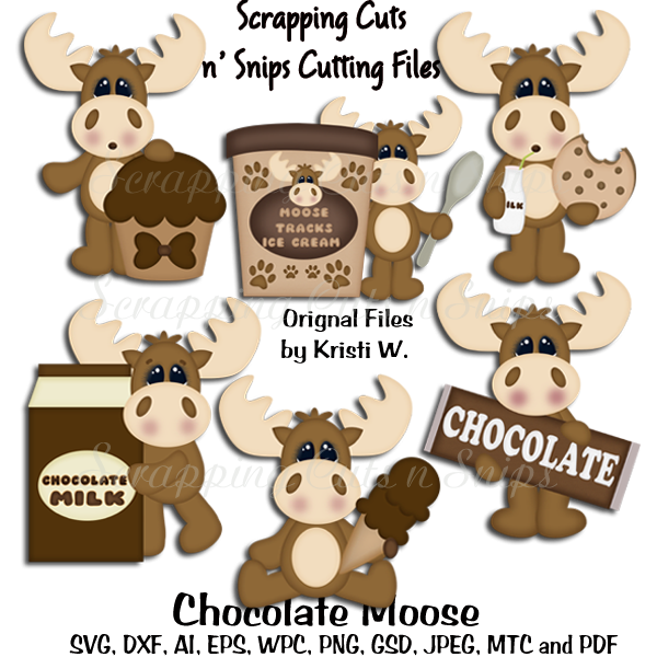 Thanksgiving moose clipart png free library Chocolate Moose Cutting Files | Scrapping cuts n snips | Pinterest ... png free library