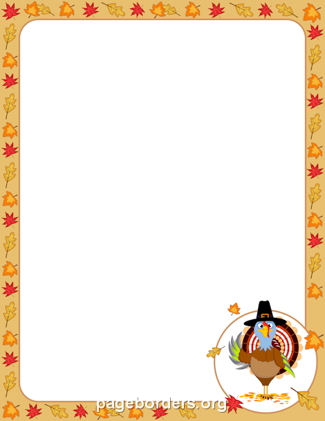 Thanksgiving page borders clipart png royalty free library Pin by Muse Printables on Page Borders and Border Clip Art ... png royalty free library