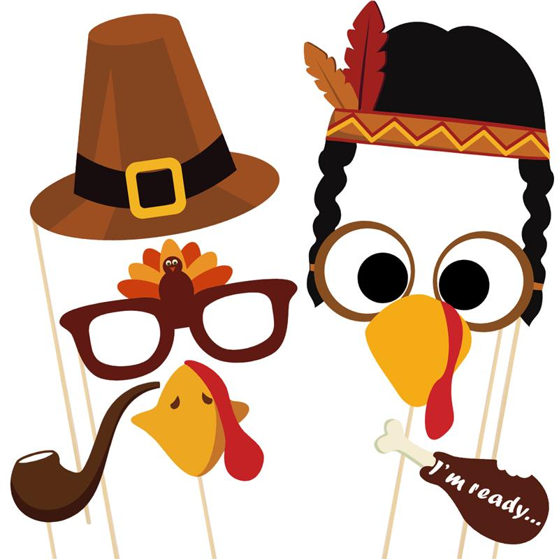 Thanksgiving photo booth clipart jpg free stock US $35.91 46% OFF|BESTOYARD 38pcs Creative DIY Thanksgiving Party Photo  Booth Props Pose Sign Kit for Party Decoration-in Photobooth Props from  Home & ... jpg free stock