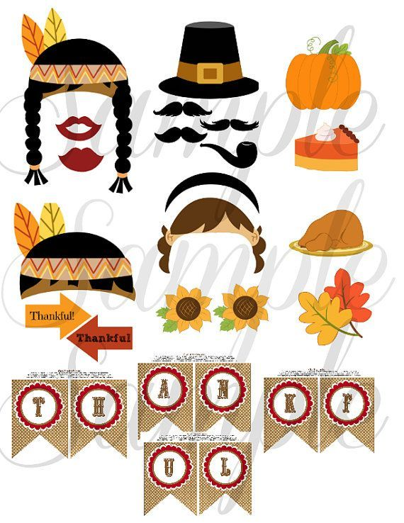 Thanksgiving photo booth clipart clip black and white download photo booth thanksgiving templates free | THANKSGIVING 26 ... clip black and white download