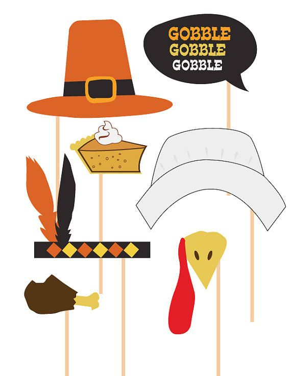 Thanksgiving photo booth clipart clipart free stock Thanksgiving Photobooth Props Celebration Props - Make your ... clipart free stock