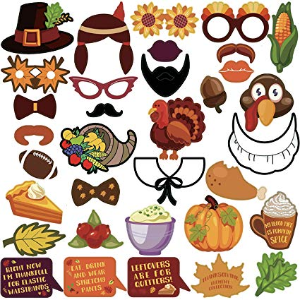 Thanksgiving photo booth clipart clip art free KatchOn Thanksgiving Photo Booth Props 34 DIY Kits Thanksgiving Day  Decorations,Happy Thanksgiving Party Favor, Element of Pumpkin Turkey Bread  Corn ... clip art free