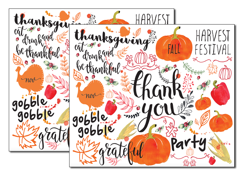 Thanksgiving placemat clipart free clip freeuse download Printables - Fall Placemats - Fellowes® clip freeuse download