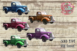 Thanksgiving shirts with old truck clipart svg library Vintage Truck, Color Antique Truck Clip Art, Instant Download Commercial  Use Design Clipart for Printing or Sublimation and Design svg library