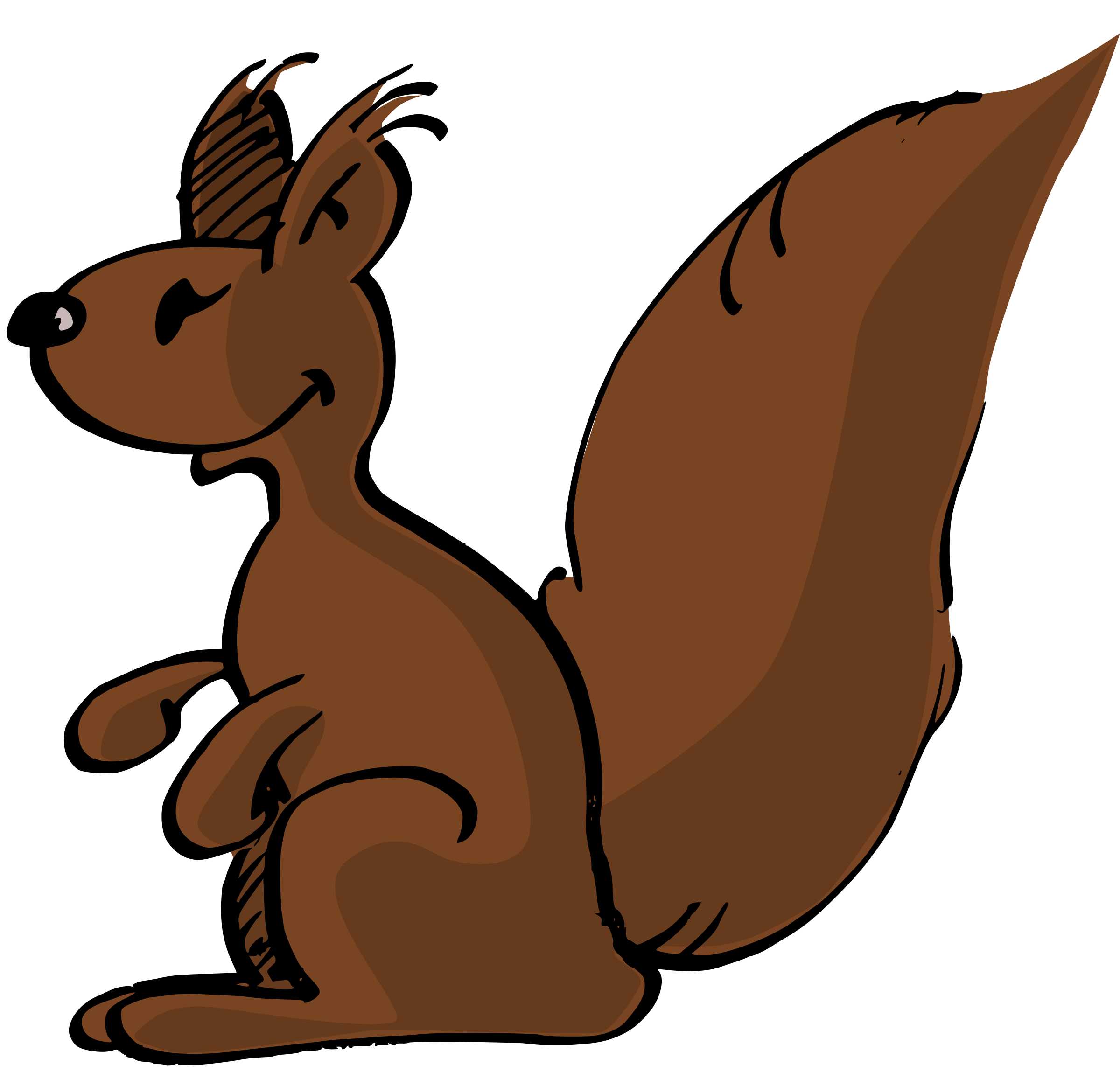 Thanksgiving squirrel clipart png black and white Clipart - Squirrel png black and white