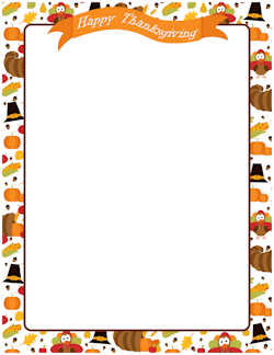 Thanksgiving stationery clipart graphic royalty free stock Free Fall Borders: Clip Art, Page Borders, and Vector Graphics graphic royalty free stock
