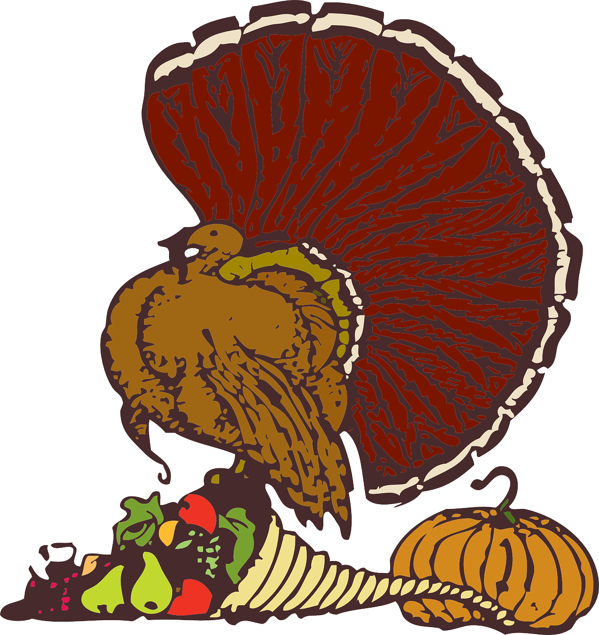 Turkey eating dinner clipart free graphic download Happy Thanksgiving: An Analysis Of Turkey Producers Seaboard And ... graphic download