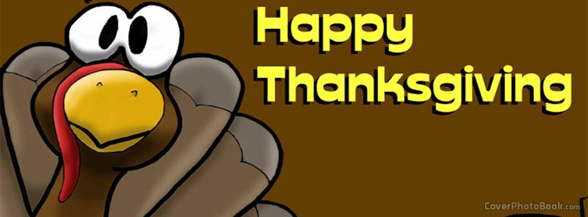 Thanksgiving turkey clipart cover photo for facebook png free Happy Thanksgiving Day Turkey Cartoon Facebook Cover - Holidays png free