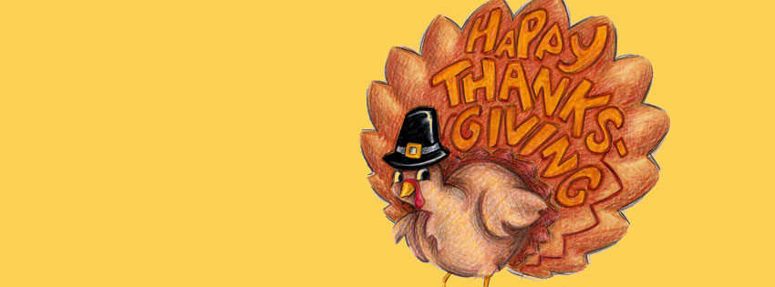 Thanksgiving turkey clipart cover photo for facebook vector black and white library Happy Thanksgiving Cover Photos for Facebook | Thanksgiving ... vector black and white library