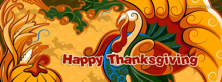 Thanksgiving turkey clipart cover photo for facebook banner free stock Turkey Happy Thanksgiving Facebook Cover CoverLayout.com ... banner free stock