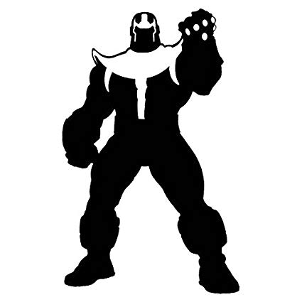 Thanos clipart black and white clip transparent stock Marvel Comics Avengers Thanos, Black, 12 Inch, Die Cut Vinyl Decal, For  Windows, Cars, Trucks, Toolbox, Laptops, Macbook-virtually Any Hard Smooth  ... clip transparent stock