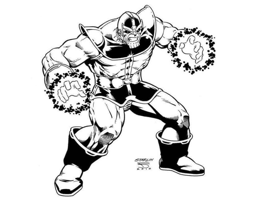 Thanos clipart black and white svg royalty free Download thanos colouring clipart Thanos Black Panther Sketch svg royalty free