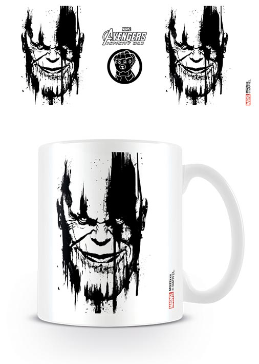 Thanos clipart black and white png download Details about AVENGERS: INFINITY WAR - CERAMIC COFFEE MUG / CUP (THANOS  STENCIL DRIP) png download