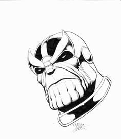 Thanos clipart black and white clipart library stock 19 Best LineArt: Thanos images in 2016 | Comic art, Marvel ... clipart library stock