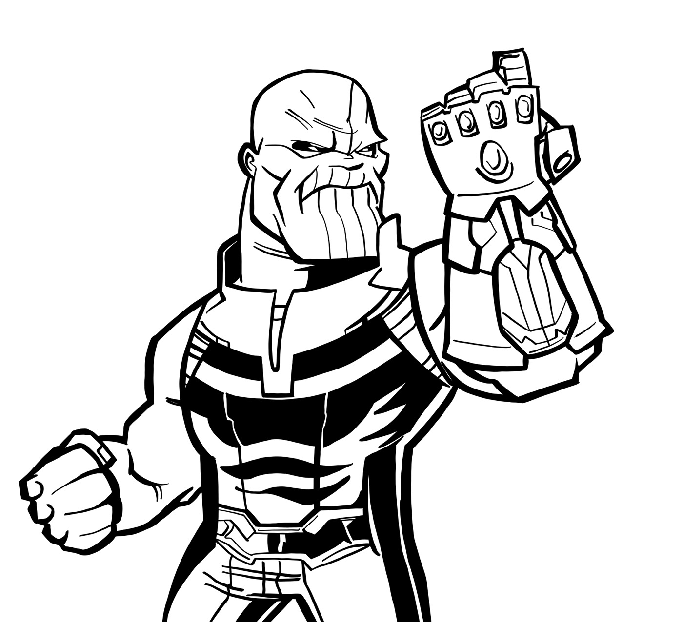 Thanos clipart black and white png black and white library Thanos Drawing | Free download best Thanos Drawing on ... png black and white library