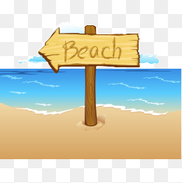That way to the beach sign clipart image free stock Beach sign clipart 5 » Clipart Station image free stock
