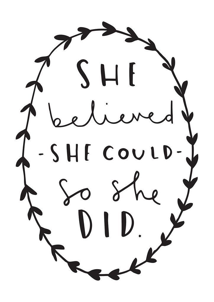 The adventure continues wording clipart vector black and white stock She Believed She Could Print | Inspiring Quotes || Words ... vector black and white stock