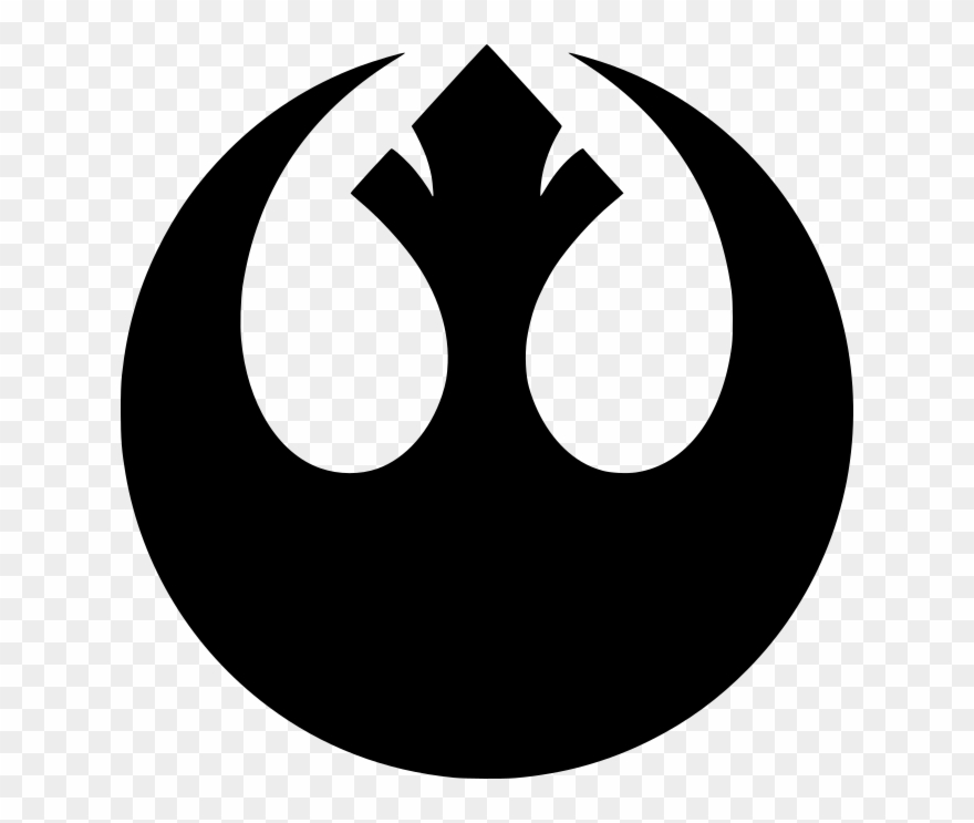 The alliance clipart picture black and white stock Star Wars Symbols - Rebel Alliance Clipart (#1237677 ... picture black and white stock