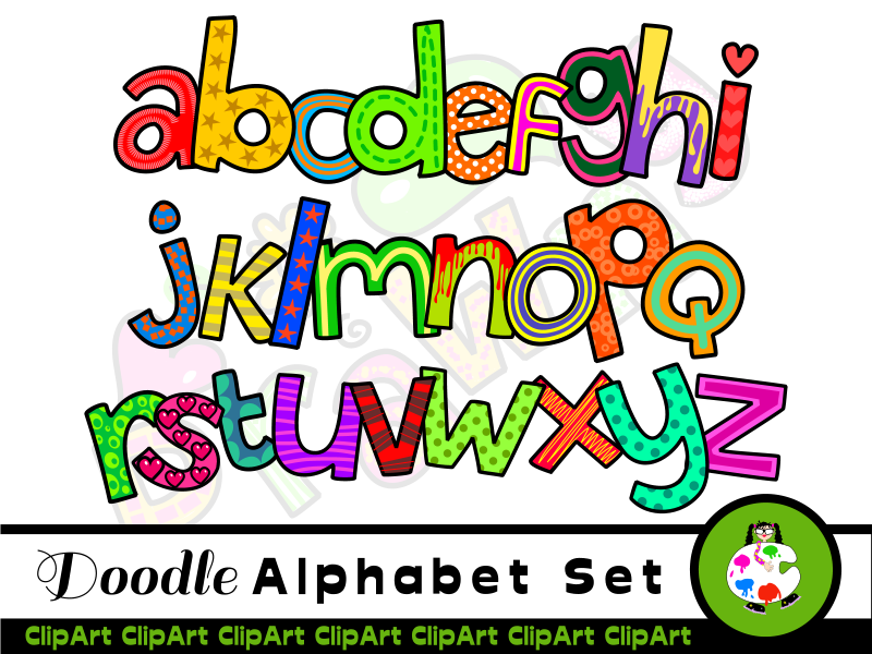 The alphabet clipart banner transparent download Hand Drawn Alphabet ClipArt Letters banner transparent download